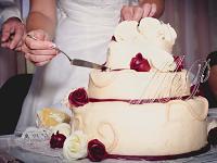 Srdce akryl - čiré - zápich do dortu