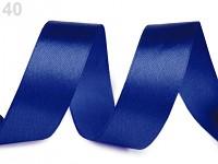 Stuha saténová 20 mm - magicky modrá - 1m
