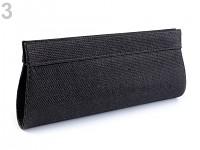 Společenská kabelka lurexová -černá
