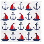Ubrousky - kotvy a loďky
