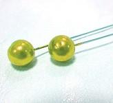 Špendlík - žlutá perla velká  -1ks