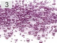 Perličky na silikonu - sv.fialové malé