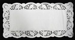 Dekorační papírová krajka hranatá - 25x38 cm - 12ks