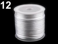 Saténová šňůrka bílá - 1 mm/ 1 m