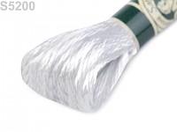 Saténová šnůrka bílá - 8 m
