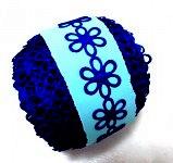 Květinky tm.modré duté - metráž