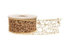 Stuha úzká 4 mm - zlatá - 1m