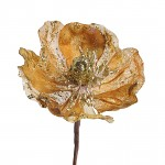 Květ magnolie glitter - zlatý