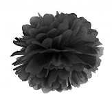 Pompon - koule černá - 25 cm