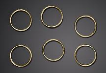 Prstýnky zlaté - 48 ks
