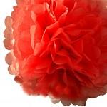 Pom-pom - koule červená - 35cm