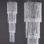 Závěsný diamantový lustr - 5 pater - krystal