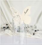 Motýlek jedno křídlo II. - jmenovka - krémový