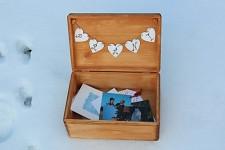 Dřevěná krabička na přání (peníze) - natur