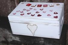 Dřevěná krabička na přání (peníze) - maxi - láska