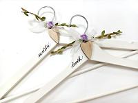 Dřevěná sada - svatební - natur