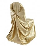 Potah na židli - sv.zlatý saténový - půjčovna