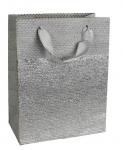 Dárková taška třpytivá - stříbrná