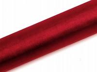 Organza šerpa - červená - nelemovaná