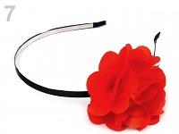 Čelenka se saténovým květem - červená