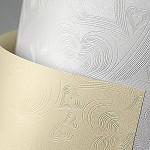 Tvrdý perleťový papír - krémový Love - A4