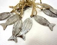 Rybka plechová - závěs - hnědá
