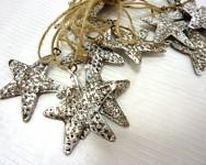 Hvězdice plechová - závěs - hnědá