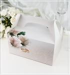 Krabička na výslužku - s ouškem - svatební s růžemi