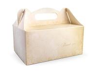 Krabička na výslužku - hnědokrémová thank you