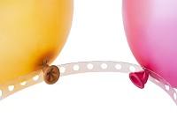 Páska průhledná na balonkovou girlandu - 5m