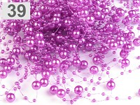 Perličky na silikonu - růžovofialové malé