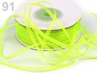 Šifonová stuha žlutozelená - 3mm -1m