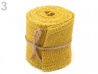 Žlutá jutová stuha - 60mm/ 2m