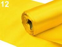 Saténová role - žlutá - 12 cm/9 m