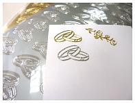 Kontury samolepicí - prstýnky stříbrné mix