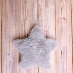 Hvězda plyš závěs - šedá