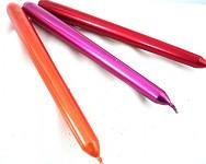 Svíčky konické - oranžové metalické