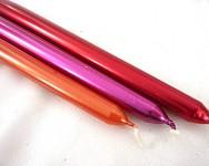 Svíčky konické - červené metalické