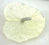 Hlavička anturie - bílá se stříbrnými glitry