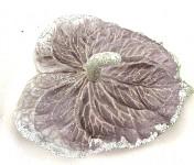 Hlavička anturie - tmavě šedá se stříbrnými glitry
