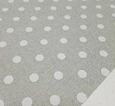 Imitace juty - šedá s puntíky a glitry - 1m