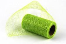Organza pavučina stuha - žlutozelená