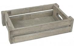 Aranžovací tác (bedýnka) dřevěný šedý - 27 cm
