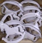 Plechový houpací koník - zvonečky