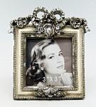 Fotorámeček dřevěný vintage s mašlí  - malý stojací