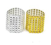 Diamantový kroužek na ubrousky stříbrný - 1 ks