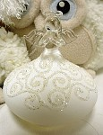 Anděl sklo - bílá sukýnka