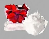 Plastový pohárek na dezerty 250ml - hranatý
