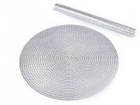 Dekorační prostírání kulaté - stříbrné - 1 ks