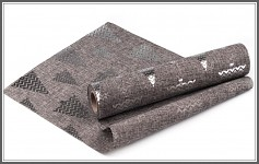 Šerpa vánoční - imitace pytloviny - stříbrné stromky  - 1m